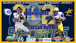 Download Brandywine visits Caesar Rodney Football LIVE from Riders Stadium Video