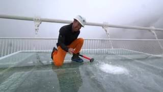 Download China's giant glass bridge hit with sledgehammer - BBC Click Video