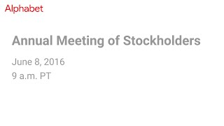 Download 2016 Annual Meeting of Stockholders Video