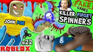Download KILLER FIDGET SPINNERS ROBLOX! John Doe Fidget Toe Oreos Surfin Bros (FGTEEV FAKE ROBLOX GAMES #22) Video