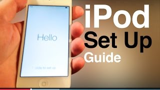 Download iPod touch user guide, main set up- first time turning on. 5th gen , 6th generation Video