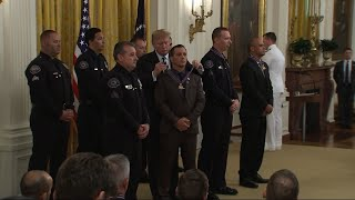 Download Trump honors officers with Medal of Valor awards Video