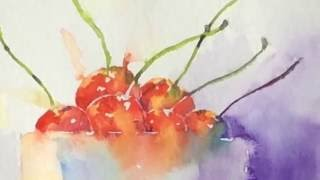 Download Simple Loose Watercolours 'Life is a bowl of Cherries' with Andrew Geeson Video