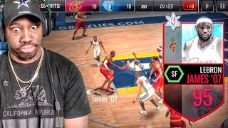Download 95 LEBRON JAMES BREAKING ANKLES & POSTERIZING! NBA Live Mobile 16 Gameplay Ep. 55 Video