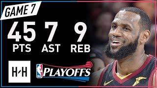 Download LeBron James Full Game 7 Highlights Pacers vs Cavaliers 2018 NBA Playoffs - 45 Pts, 7 Ast, 9 Reb! Video