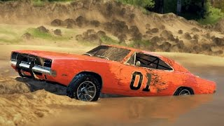 Download GENERAL LEE CHARGER! Off-Road Test! Mudding & Hill Climbing! (SpinTires) Video