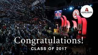 Download Congratulations Class of 2017! | Azusa Pacific Winter Commencement Video