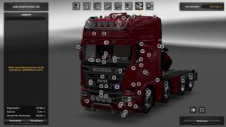 Download (Ets2 1.25.2.6)Scania mega Mod 6.5 10x4 chassie Video