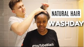 Download BOYFRIEND DOES MY NATURAL HAIR WASHDAY ROUTINE ! Video