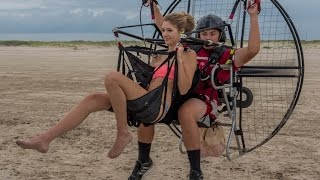 Download Paramotor Tandem For Kisses!!! Powered Paragliding Hottest Girls With 16 Year Old SUPER Trevor!! Video