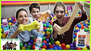 Download Ball Pit SLIME Challenge! / That YouTub3 Family Video