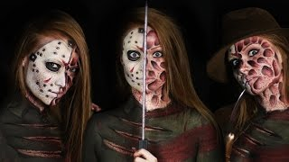 Download Freddy vs. Jason Makeup Tutorial (Clothes Painted On!) Video