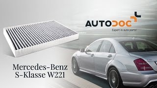 Download How to change a pollen filter MERCEDES-BENZ S W221 TUTORIAL | AUTODOC Video