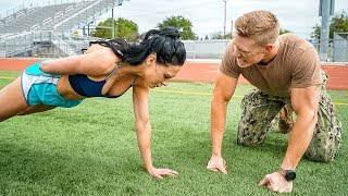 Download Ms. Bikini Olympia Attempts the US Navy Physical Test Video