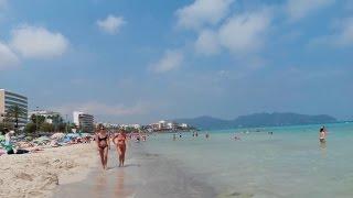 Download Mallorca Spanien Urlaub - Am Strand von Cala Millor Video