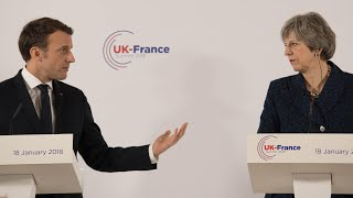 Download Tough talking Macron says UK must pay for post-Brexit City deal Video