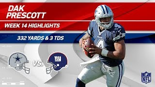 Download Dak Prescott Puts Up 3 TDs & 332 Yards vs. NY! | Cowboys vs. Giants | Wk 14 Player Highlights Video