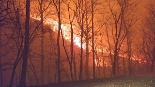 Download Fierce Tennessee Wildfire Caught On Camera Video
