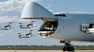 Download Revealed: The Largest Military Transport Aircraft In the World Used The US Air Force Video