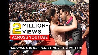Download 'Badrinath ki Dulhaniya' Movie Promotion by Alia Bhatt and Varun Dhawan at Arya Group of Colleges Video
