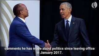 Download Obama slams Trump's politics in speech honoring Nelson Mandela Video