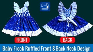 Download Baby Frock Ruffled Front & Back Neck Design Video