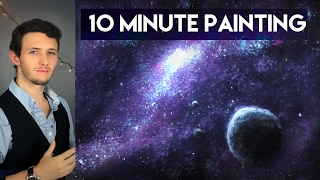 Download Painting a Galaxy and Stars with Acrylics in 10 Minutes! Video