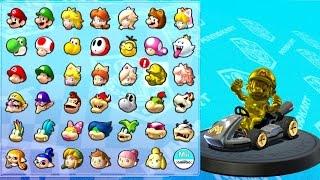 Download Mario Kart 8 Deluxe - All Characters Unlocked + Gold Mario Video