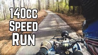 Download 140cc Mini ATV Top Speed Run, Kick Start, Oil Cooler Video