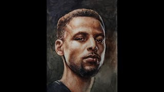 Download 【Watercolor Portrait】 Stephen Curry Speed Painting 인물수채화 인체수채화 NO.25 Video