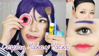 Download 8 Cosplay Makeup Hacks EVERYONE Should Know! | Face Taping, Brow Concealing, Anime Lips Video