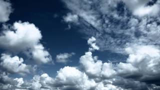 Download Sky with clouds. Relaxing background. Video