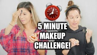 Download 5 MINUTE MAKEUP CHALLENGE WITH ASHLEY TISDALE! Video