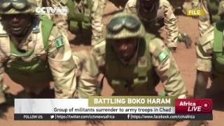 Download Group of Boko Haram militants surrender to army troops in Chad Video