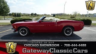 Download 1970 Ford Mustang Convertible Gateway Classic Cars Chicago #1259 Video