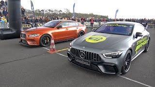 Download Jaguar XE SV Project 8 vs Mercedes-AMG GT63s 4-door Coupe Video