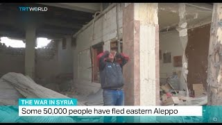 Download The War In Syria: Some 50.000 people have fled eastern Aleppo Video