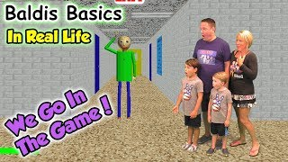 Download Baldi's Basics In Real Life! We GO in the Game and Beat Baldi | DavidsTV Video