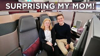 Download I Bought My Mom A Flight in The World's Best Business Class - Qatar Airways QSuite Video
