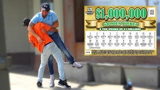 Download FAKE $10,000 LOTTERY TICKET PRANK on Strangers Video