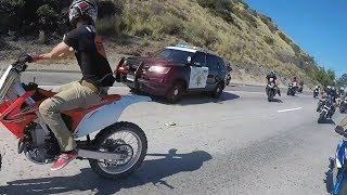 Download Cop tries to stop group of bikers.. Then this happens.... Video