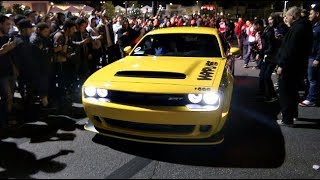 Download Dodge Demon Taxi SHUTS DOWN The Car Meet! Video