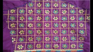 Download Top 10 Embroidery Work Blouse Designs For Border Saree | Blouse Designs For Pattu Sarees Images|Aari Video