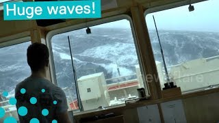 Download This is what it is like on ship in the North Sea during a storm Video