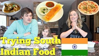 Download AMERICANS TRY SOUTH INDIAN FOOD - Dosa, Uttapam, Chicken Chettinadu Video