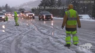Download I-80 Icy Roads, Snow, Accidents, Snow Chains 10-30-16 Rainbow/Troy, CA Video