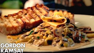 Download Mushroom, Leek and Tarragon Pasta - Gordon Ramsay Video
