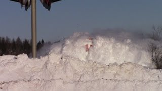 Download EPIC CATCH!!! Dashing Thru the Snow - CN Train 406 West at Salisbury, NB (Feb 3, 2015) Video