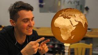 Download HUGE 3D Printed Spherical Lithophane Globe - 100H PRINT!!! Video