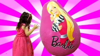 Download Barbie Life In The Dreamhouse GIANT Surprise Egg Opening - Dolls, Princess Toys + Playhouse Video